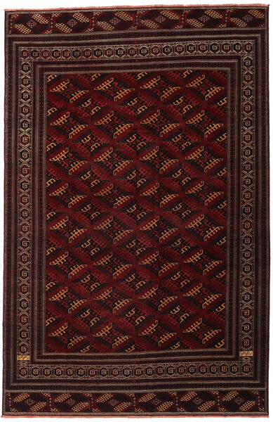 Turkaman Patina Alfombra 262X408 Oriental Hecha A Mano Rojo Oscuro Grande (Lana, Persia/Irán)