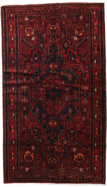 Hamadan Alfombra 143X248 Oriental Hecha A Mano Rojo Oscuro (Lana, Persia/Irán)