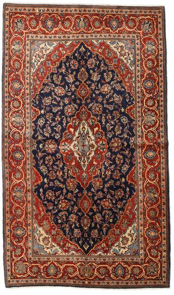 Keshan Alfombra 138X237 Oriental Hecha A Mano Marrón Oscuro/Azul Oscuro (Lana, Persia/Irán)