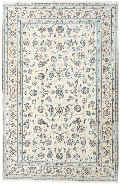 Nain Alfombra 198X301 Oriental Hecha A Mano Beige/Gris Claro (Lana, Persia/Irán)