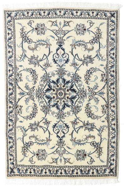 Nain Alfombra 90X143 Oriental Hecha A Mano Beige/Gris Claro (Lana, Persia/Irán)