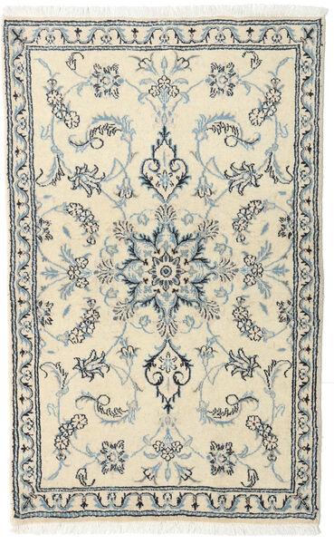Nain Alfombra 88X140 Oriental Hecha A Mano Beige/Gris Claro (Lana, Persia/Irán)