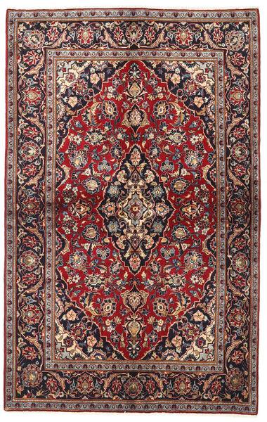 Keshan Alfombra 137X218 Oriental Hecha A Mano Rojo Oscuro/Negro (Lana, Persia/Irán)