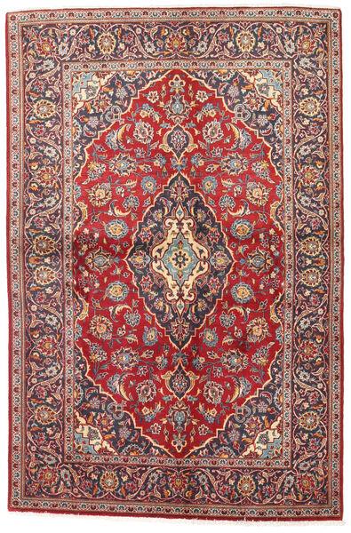 Keshan Alfombra 141X215 Oriental Hecha A Mano Rojo Oscuro/Marrón (Lana, Persia/Irán)