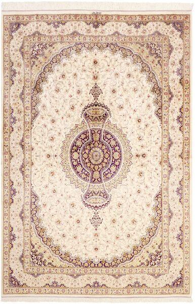 Ghom De Seda Alfombra 161X237 Oriental Hecha A Mano Beige/Rosa Claro (Seda, Persia/Irán)