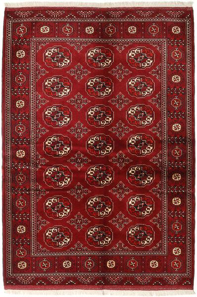 Turkaman Alfombra 136X200 Oriental Hecha A Mano Rojo Oscuro/Roja (Lana, Persia/Irán)