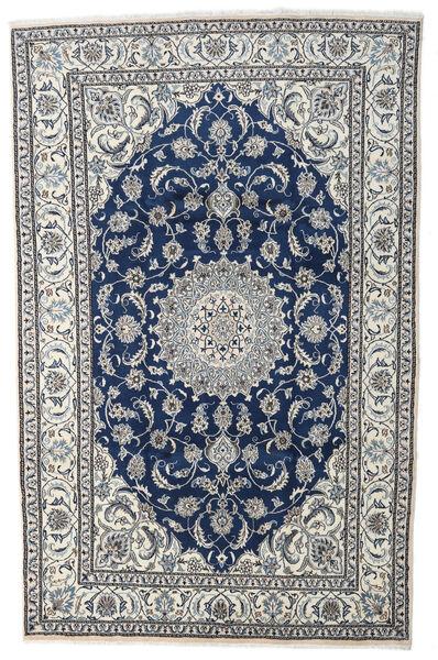 Nain Alfombra 198X306 Oriental Hecha A Mano Gris Claro/Azul Oscuro (Lana, Persia/Irán)