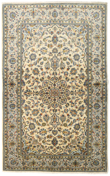 Keshan Alfombra 138X222 Oriental Hecha A Mano Beige Oscuro/Gris Oscuro (Lana, Persia/Irán)