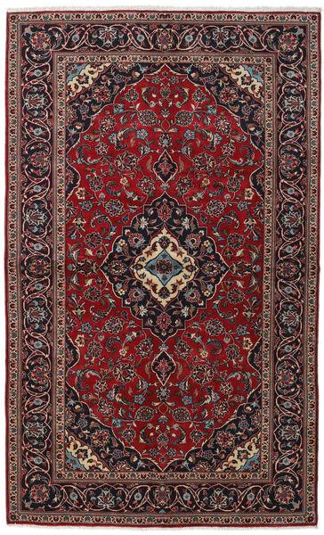 Keshan Alfombra 147X242 Oriental Hecha A Mano Rojo Oscuro/Negro (Lana, Persia/Irán)