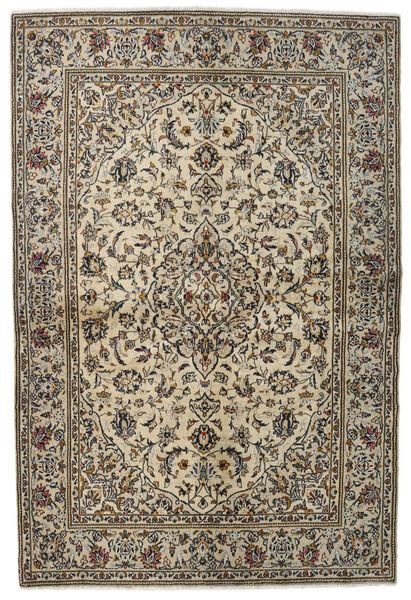 Keshan Alfombra 137X205 Oriental Hecha A Mano Gris Claro/Gris Oscuro (Lana, Persia/Irán)