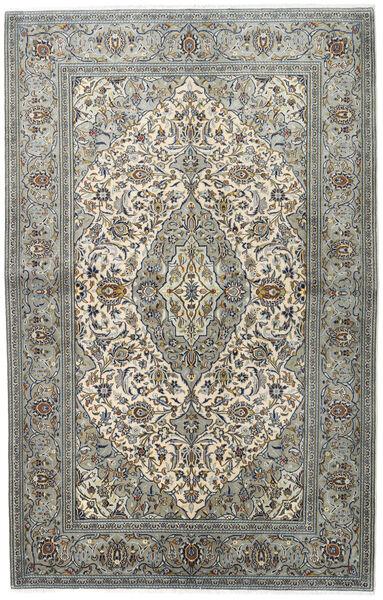 Keshan Alfombra 140X218 Oriental Hecha A Mano Gris Claro/Gris Oscuro (Lana, Persia/Irán)