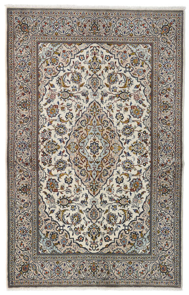 Keshan Alfombra 137X213 Oriental Hecha A Mano Gris Claro/Negro (Lana, Persia/Irán)