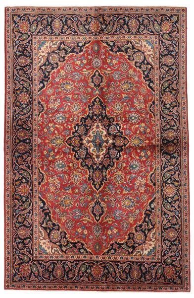 Keshan Alfombra 138X215 Oriental Hecha A Mano Rojo Oscuro/Marrón Oscuro (Lana, Persia/Irán)