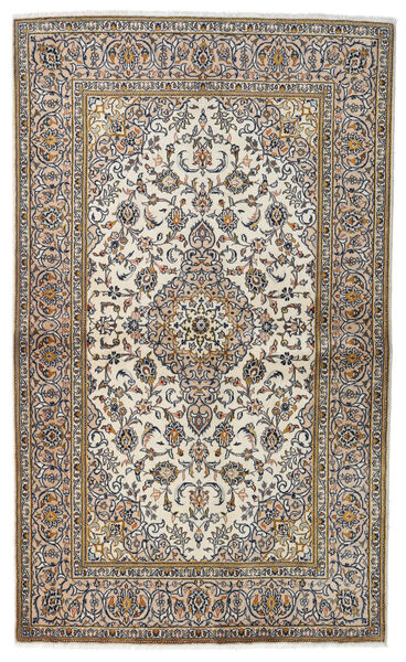 Keshan Alfombra 134X223 Oriental Hecha A Mano Gris Claro/Beige/Gris Oscuro (Lana, Persia/Irán)