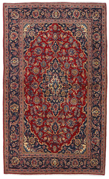 Keshan Alfombra 135X223 Oriental Hecha A Mano Rojo Oscuro/Negro (Lana, Persia/Irán)
