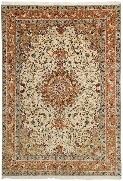 Tabriz 50 Raj Alfombra 253X358 Oriental Hecha A Mano Marrón/Marrón Claro/Beige Oscuro Grande (Lana/Seda, Persia/Irán)