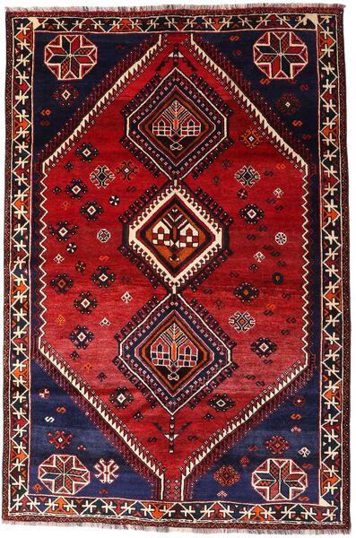 Shiraz Alfombra 160X242 Oriental Hecha A Mano Rojo Oscuro (Lana, Persia/Irán)