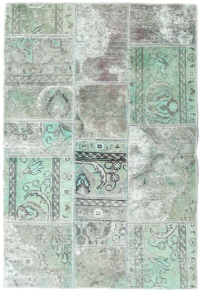 Patchwork - Persien/Iran Alfombra 106X157 Moderna Hecha A Mano Gris Claro/Verde Pastel (Lana, Persia/Irán)