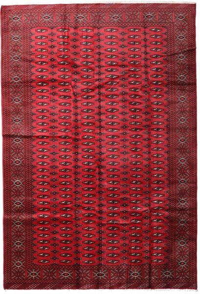 Turkaman Alfombra 197X285 Oriental Hecha A Mano Rojo Oscuro/Roja (Lana, Persia/Irán)