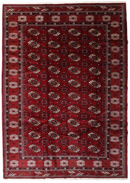 Turkaman Alfombra 204X285 Oriental Hecha A Mano Rojo Oscuro/Marrón Oscuro (Lana, Persia/Irán)