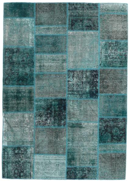 Patchwork - Persien/Iran Alfombra 167X236 Moderna Hecha A Mano Azul Turquesa/Turquesa Oscuro (Lana, Persia/Irán)
