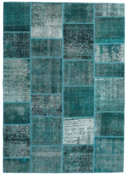 Patchwork - Persien/Iran Alfombra 165X233 Moderna Hecha A Mano Turquesa Oscuro/Azul Turquesa (Lana, Persia/Irán)