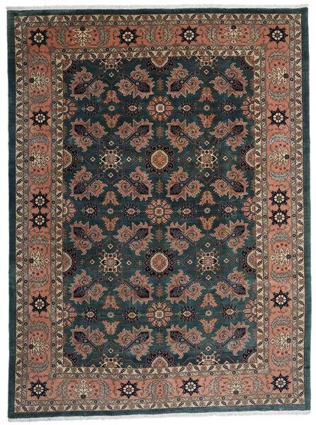 Ardabil Alfombra 295X393 Oriental Hecha A Mano Negro/Rojo Oscuro Grande (Lana, Persia/Irán)