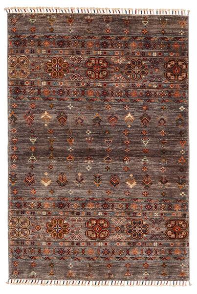 Shabargan Alfombra 103X153 Moderna Hecha A Mano Marrón Oscuro/Marrón Claro (Lana, Afganistán)