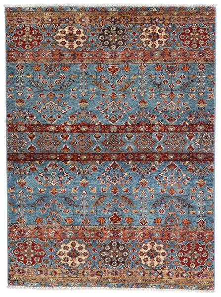 Sharbargan Alfombra 106X143 Moderna Hecha A Mano Marrón Oscuro/Azul (Lana, Afganistán)