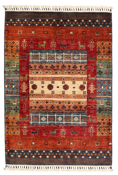 Shabargan Alfombra 89X127 Moderna Hecha A Mano Óxido/Roja/Marrón Oscuro (Lana, Afganistán)