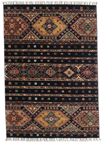 Shabargan Alfombra 100X145 Moderna Hecha A Mano Azul Oscuro/Gris Oscuro (Lana, Afganistán)