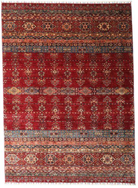 Shabargan Alfombra 213X293 Moderna Hecha A Mano Rojo Oscuro (Lana, Afganistán)