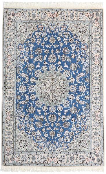 Nain 9La Alfombra 128X200 Oriental Hecha A Mano Gris Claro/Blanco/Crema (Lana/Seda, Persia/Irán)
