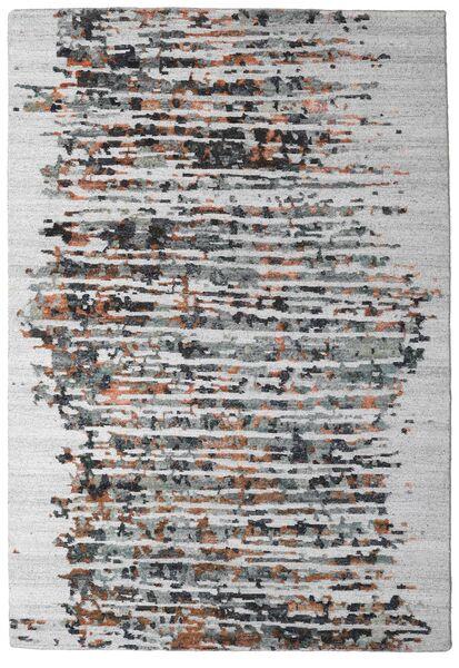 Damask Collection Alfombra 159X230 Moderna Hecha A Mano Gris Claro/Marrón Oscuro ( India)