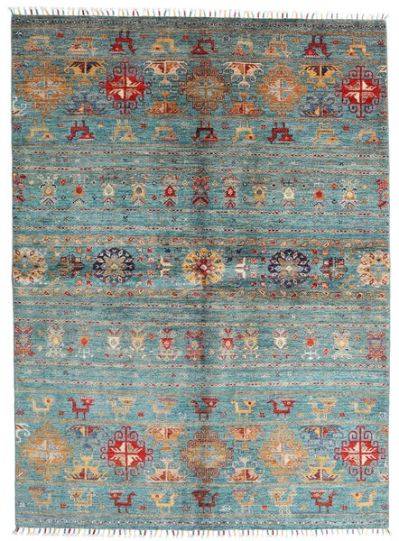 Shabargan Alfombra 172X235 Moderna Hecha A Mano Azul/Verde Oscuro (Lana, Afganistán)