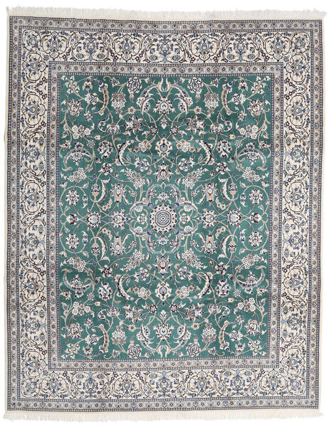 Nain 9La Alfombra 252X306 Oriental Hecha A Mano Gris Claro/Gris Oscuro Grande (Lana/Seda, Persia/Irán)