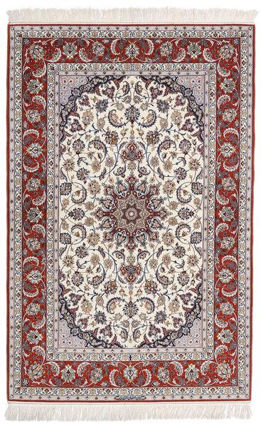 Isfahan Urdimbre De Seda Firmada: Entashari Alfombra 159X230 Oriental Hecha A Mano Gris Claro/Beige (Lana/Seda, Persia/Irán)