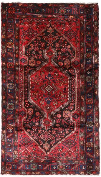 Hamadan Alfombra 137X240 Oriental Hecha A Mano Rojo Oscuro/Roja (Lana, Persia/Irán)