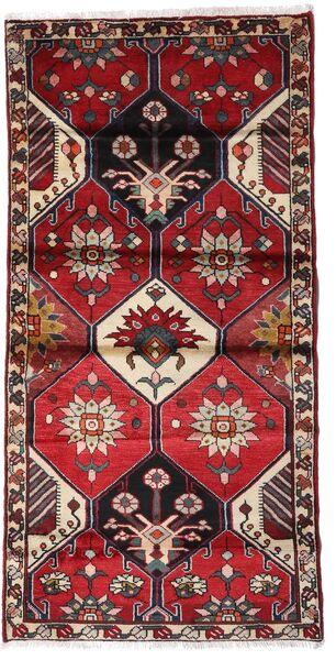 Hamadan Alfombra 103X207 Oriental Hecha A Mano Rojo Oscuro/Negro (Lana, Persia/Irán)