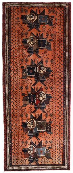 Afshar Alfombra 107X265 Oriental Hecha A Mano Marrón Oscuro/Roja (Lana, Persia/Irán)