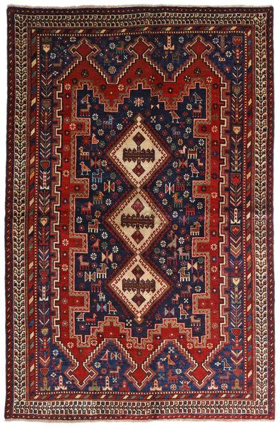 Afshar Alfombra 146X224 Oriental Hecha A Mano Rojo Oscuro/Azul Oscuro (Lana, Persia/Irán)