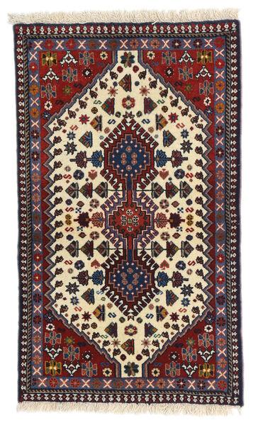 Yalameh Alfombra 61X102 Oriental Hecha A Mano Marrón Oscuro/Beige (Lana, Persia/Irán)