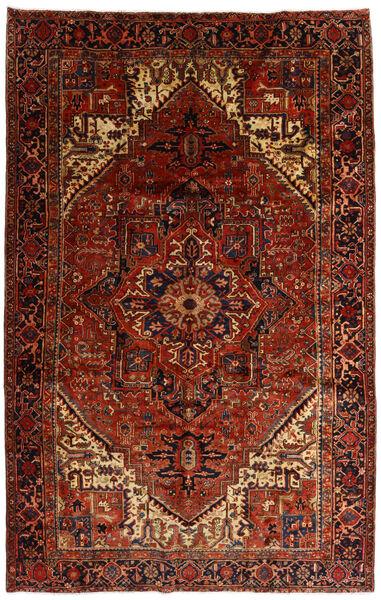 Heriz Alfombra 258X397 Oriental Hecha A Mano Marrón Oscuro/Rojo Oscuro Grande (Lana, Persia/Irán)