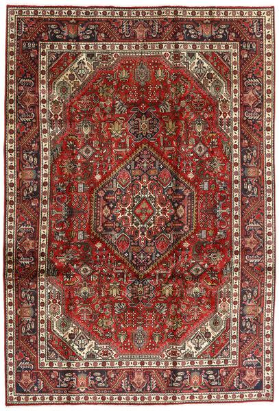 Tabriz Alfombra 198X292 Oriental Hecha A Mano Marrón Oscuro/Rojo Oscuro (Lana, Persia/Irán)
