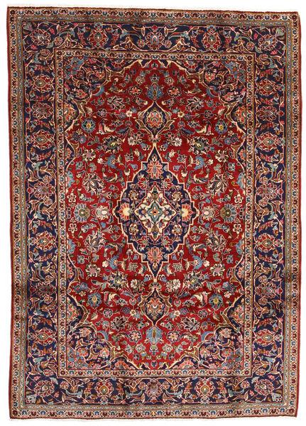 Keshan Alfombra 196X275 Oriental Hecha A Mano Rojo Oscuro/Marrón Oscuro (Lana, Persia/Irán)