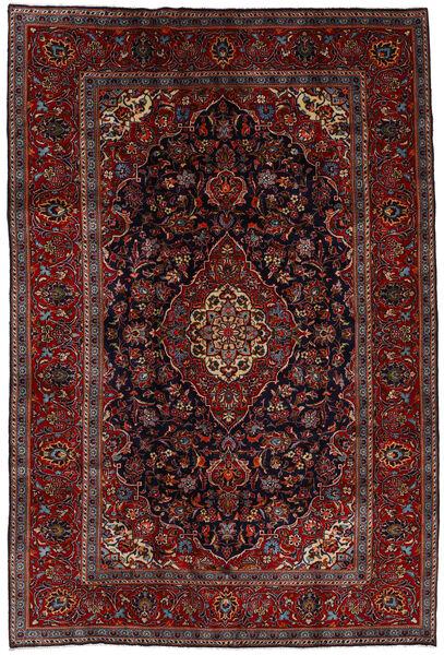 Keshan Alfombra 204X303 Oriental Hecha A Mano Rojo Oscuro/Marrón Oscuro (Lana, Persia/Irán)