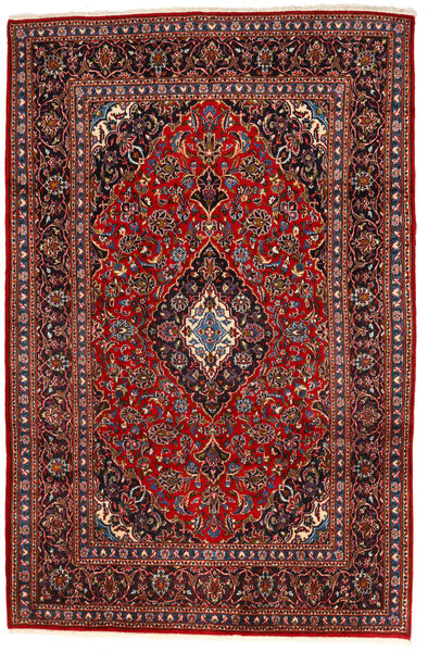 Keshan Alfombra 195X294 Oriental Hecha A Mano Rojo Oscuro/Negro (Lana, Persia/Irán)