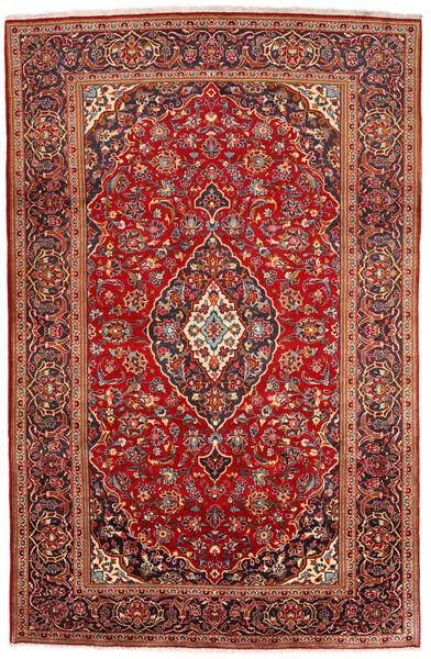 Keshan Alfombra 200X309 Oriental Hecha A Mano Rojo Oscuro/Óxido/Roja (Lana, Persia/Irán)