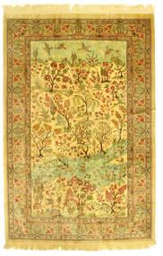 Ghom De Seda Figurativa/Gráfica Alfombra 131X198 Oriental Hecha A Mano (Seda, Persia/Irán)