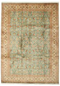Cachemira Pura De Seda Alfombra 223X313 Oriental Hecha A Mano (Seda, India)